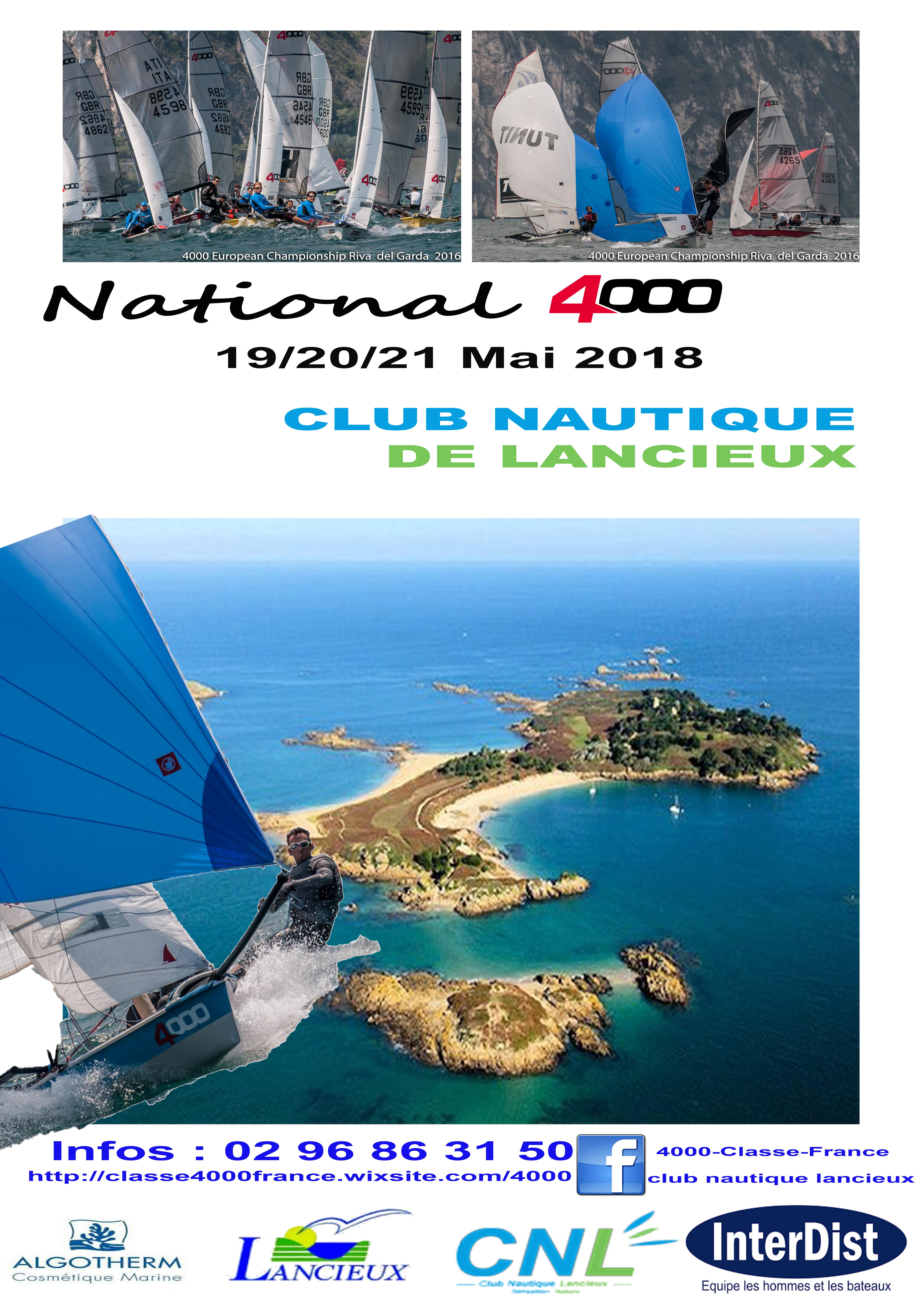 Du 19 au 21 Mai , championnat de France «National 4000», organisé par le club nautique de Lancieux