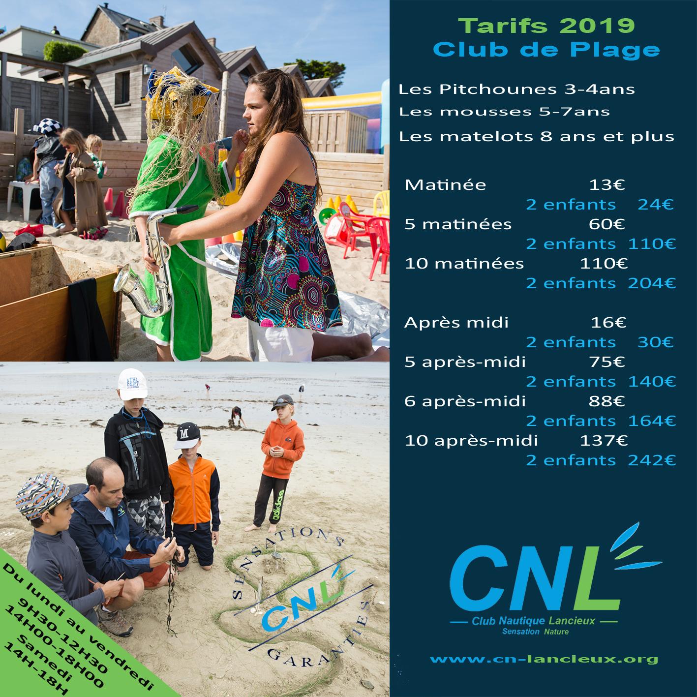 flyer club de plage 2019